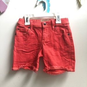 Roxy denim shorts orange girls 6X